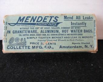 Vintage Mendets repair kit for graniteware, aluminum
