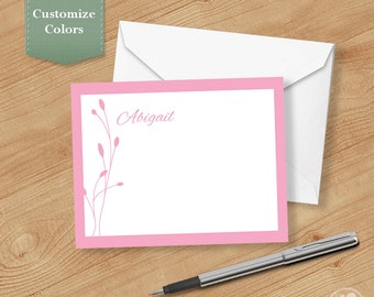 Bud Thank you Cards, Printable Thank you Cards, Personalized Thank you Cards