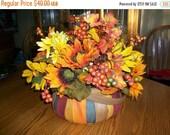 ON SALE Fall Silk Floral Centerpiece