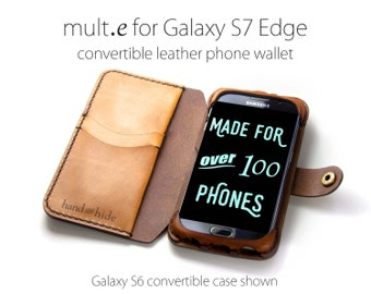 Galaxy S7 Edge Convertible Leather Wallet Case,  s7 edge case, s7 edge wallet, custom s7 edge case, leather phone case