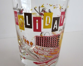 Newt Crumley's Holiday in Reno Casino Drinking Glass