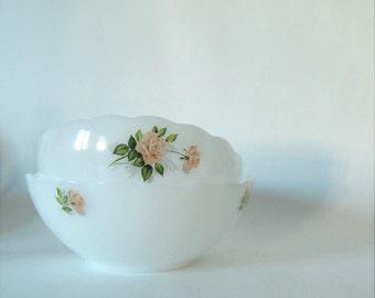 set of two - vintage - white - ceramic bowls - pyrex - ARCOPAL - FRANCE