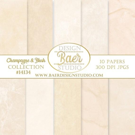 DIGITAL BACKGROUND PAPER:Champagne Textured Digital Paper, Blush Photography Background Paper, Distressed Digital Paper, #14134B