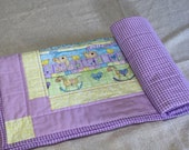 Very Purple Baby Girl Quilt, Toddler Blanket, Newborn Blanket, Nursery Decor