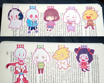 UNDERTALE magnetic bookmarks