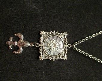French Clock Necklace