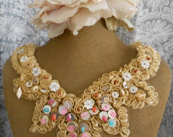 Multi Colored Beaded Sequined Appliques