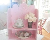 Reserved  layaway  Vintage shelf  Chippy  shabby chic pale pink shelf shabby chic cottage chic