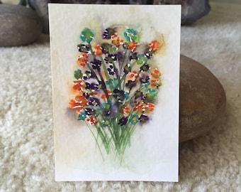 Bouquet Mini Art Card