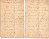 Handwritten Sermon Notes, 1900s Church Revival Sermons, Religious Ephemera, Promise to the Penitent Sinner, The Path of Life, Lot of 2
