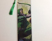 Upcycled Green Arrow Comic Book Bookmark
