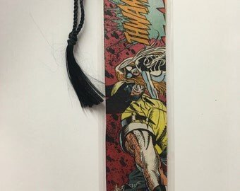 Upcycled Wolverine  Comic Book Bookmark