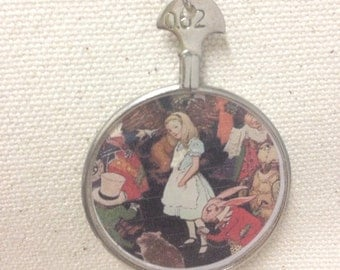 Alice in Wonderland Antique Optical Lens Necklace