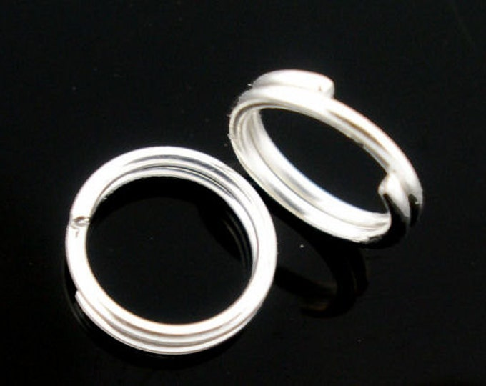 4mm Silver color double loop jumpring round - Unsoldered jump rings - Silver Color Jump Rings - Alloy Jumprings (1662) - Flat rate shipping