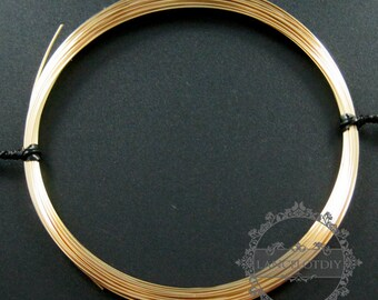 50cm 24gauge 0.51mm half hard 14K gold filled high quality color not tarnished beading jewelry wire supplies findings 1505004