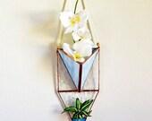 Hanging planter, Vertical Garden, Wall Plant Holder Terrarium, Stained Glass Geometric Plant Holder, Glass Terrarium