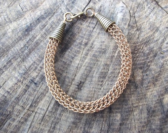 Viking Knit Bronze Bracelet