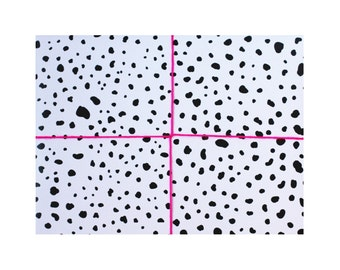 dalmatian wrapping paper - wrapping paper - gift wrap - dalmation - modern - black and white wrapping paper