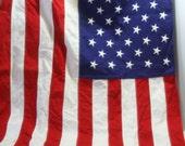 Vintage American Flag Old Glory DEFIANCE Cotton Bunting  3 x 5 for cottage decor boys room UrBaN FaRmHoUsE RuStIc BaRn WeDdInG