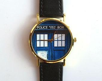 TARDIS Doctor Who Police Box Genuine Band Wrist Watch 01-056