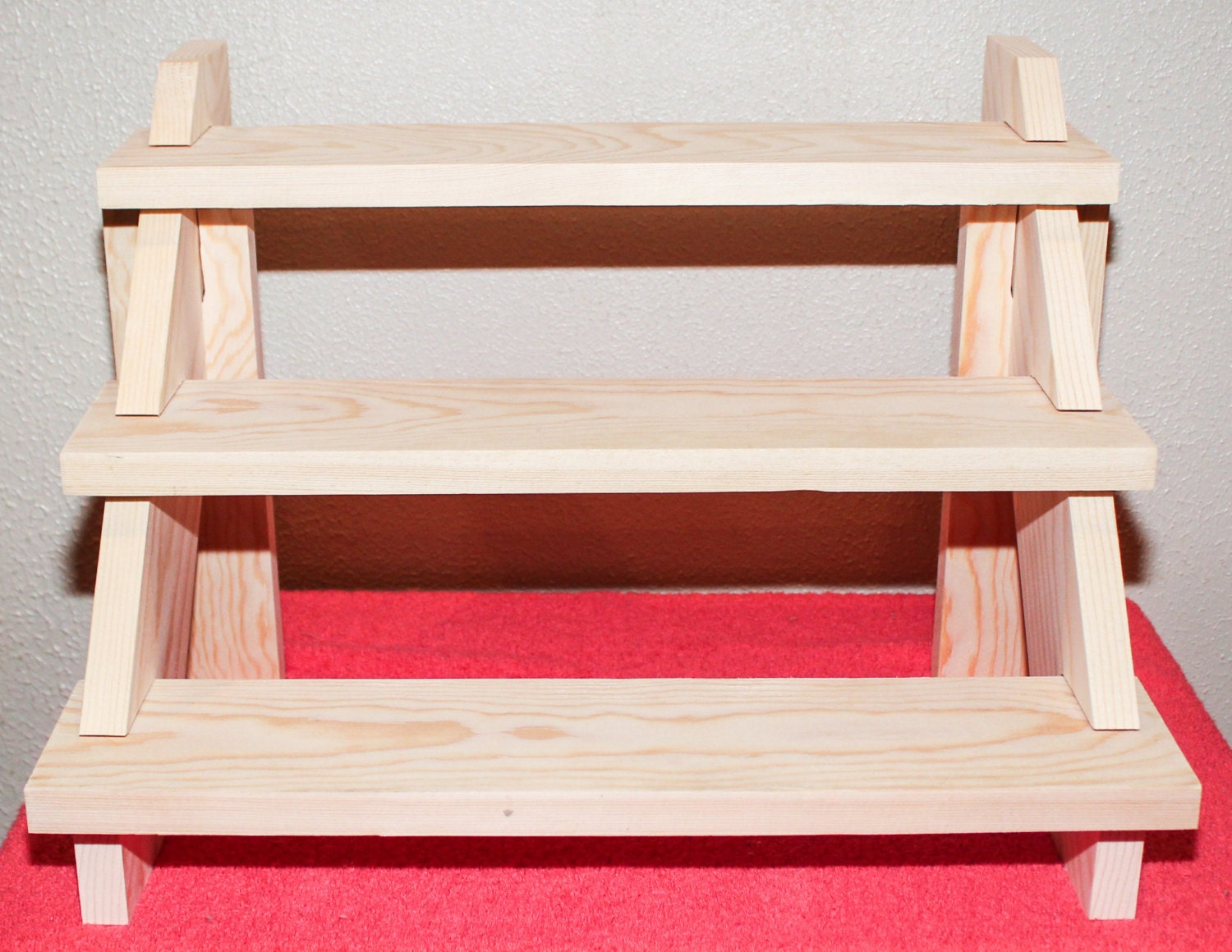 set of 2 craft show display shelves break down