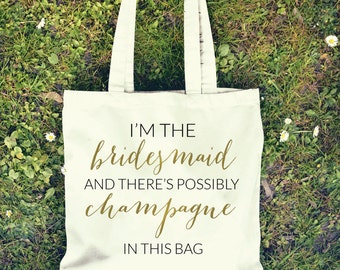 Champagne Bridal Party Tote Bag