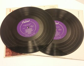 Capitol Long Playing Microgroove 33rpm Record Set - Background Music Vol. 3 Light & Lively and Vol. 5 Sweet and Sentimental