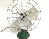Vintage Fan Cast Iron Base Hunter Century Fan