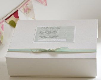 Christening or Baptism keepsake box