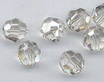 Twelve non-standard Swarovski crystals - Art. 5000 - 10 mm - crystal silver shade