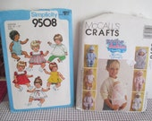 """Vintage Doll clothes Patterns --Water Babies McCalls 9670--Simplicity 9508-15-17"""" Doll clothes"""