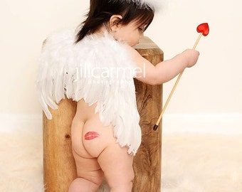 Kupid's Kiss Feather Wings Photo Prop....Valentine's Day, Cupid, Partywear