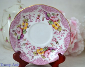 Royal Albert Lovelace Replacement Saucer Only, English Bone China Saucer,  ca. 1940