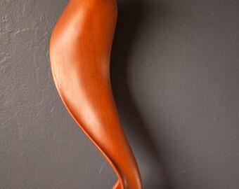 Mid Century Abstract Wood Sculpture