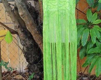 Long green tube skirt/dress fringe cover up
