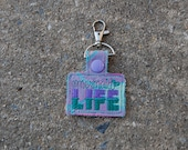 Wrap Scrap Mermaid Life Keytag