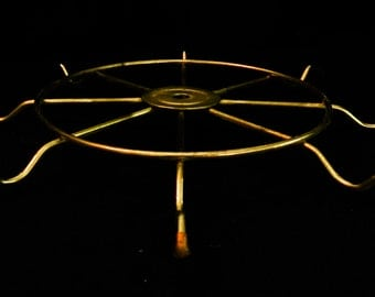 """Round 8 Arm Metal 11"""" Wheel Gold Tone w/ Curved Tips"""