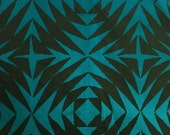 Handcrafted Patchwork - Pineapple in Lagoon - AB-8130-T - Alison Glass for Andover - 1/2 yd
