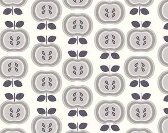 Riley Blake Designs - Apples Gray in Double Gauze - G583-Gray - 1/2 Yard