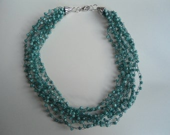 Mint multi-strand necklace