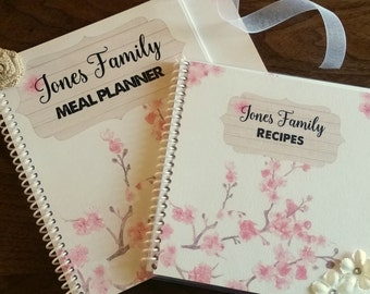 Meal Planner - Recipe Book - Family Favorite Meals - Custom - Personalized