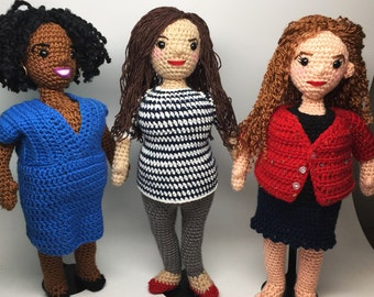 Curvy Girl Choose Your Own Amigurumi Crochet doll Pattern