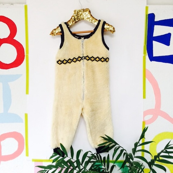Vintage 2-3 Years Kids Childrens Dungaree Unisex