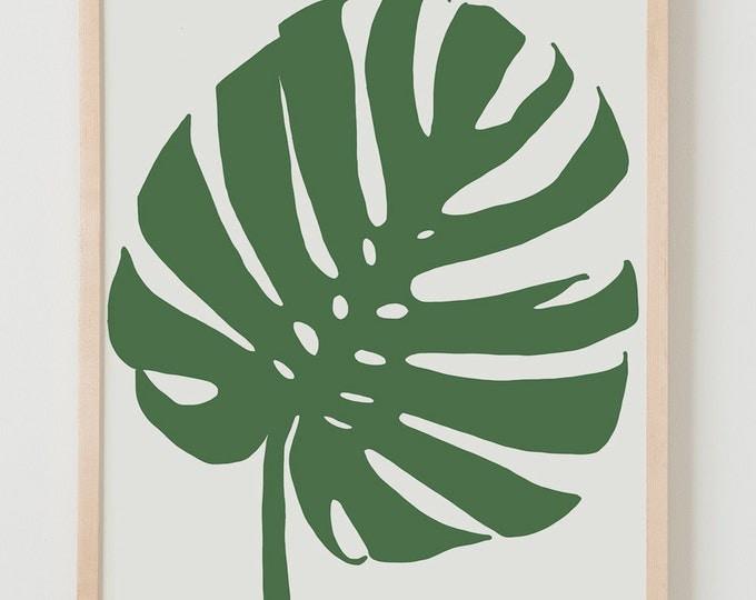 Fine Art Print.  Tropical Plant Leaf.  January 8, 2014.