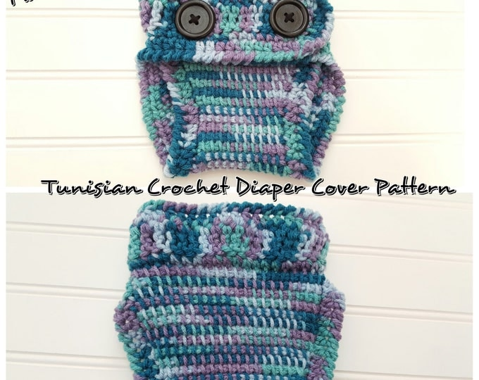 Tunisian Crochet Diaper Cover Pattern 0-6months, newborn diaper cover pattern- OK to Sell Finished items