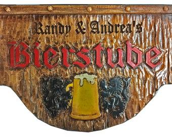 German Bierstube Personalized Beer Wall sign