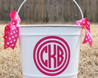 10 Qt Personalized Easter Bucket with initials
