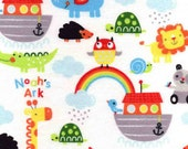 Snuggle Flannel Fabric - Noah's Ark - Sold by the Yard