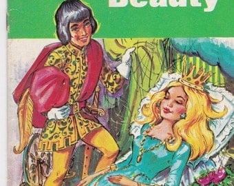 ON SALE Sandle's Book - The Sleeping Beauty -  Vintage Childrens Book - 1970s