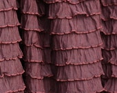 """Chocolate Brown Cascading Ruffle Fabric 12"""" Remnant Last Piece 1/3 Yard"""